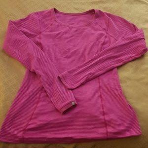 Lululemon pink long sleeve 10 workout top